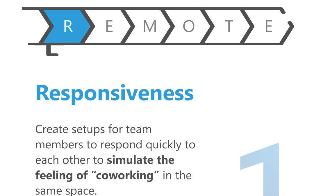RESPONSIVENESS REMOTE WORK