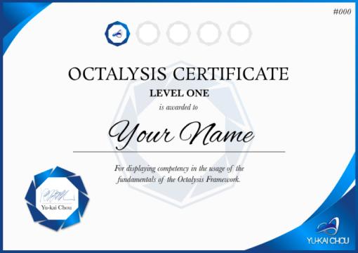 Octalysis Certificate Level 1